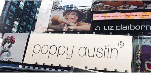 4. POPPY AUSTIN. Productos famosos en el mundo entero