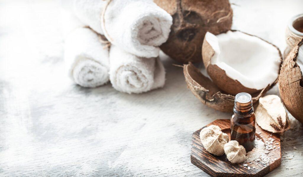 aceite de coco para las pestañas y cejas